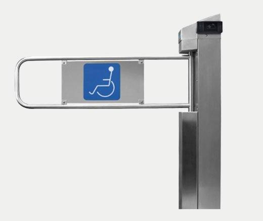 catraca para pessoas portadoras de necessidades especiais em locais públicos ou particulares telematica gt300